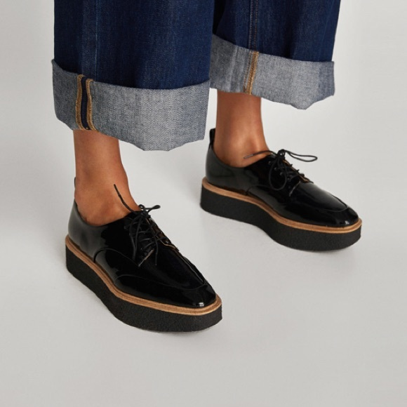 4a064eacd291 Zara Platform Derby Shoes - Oxfords